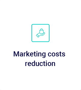 Marketing costs reduction